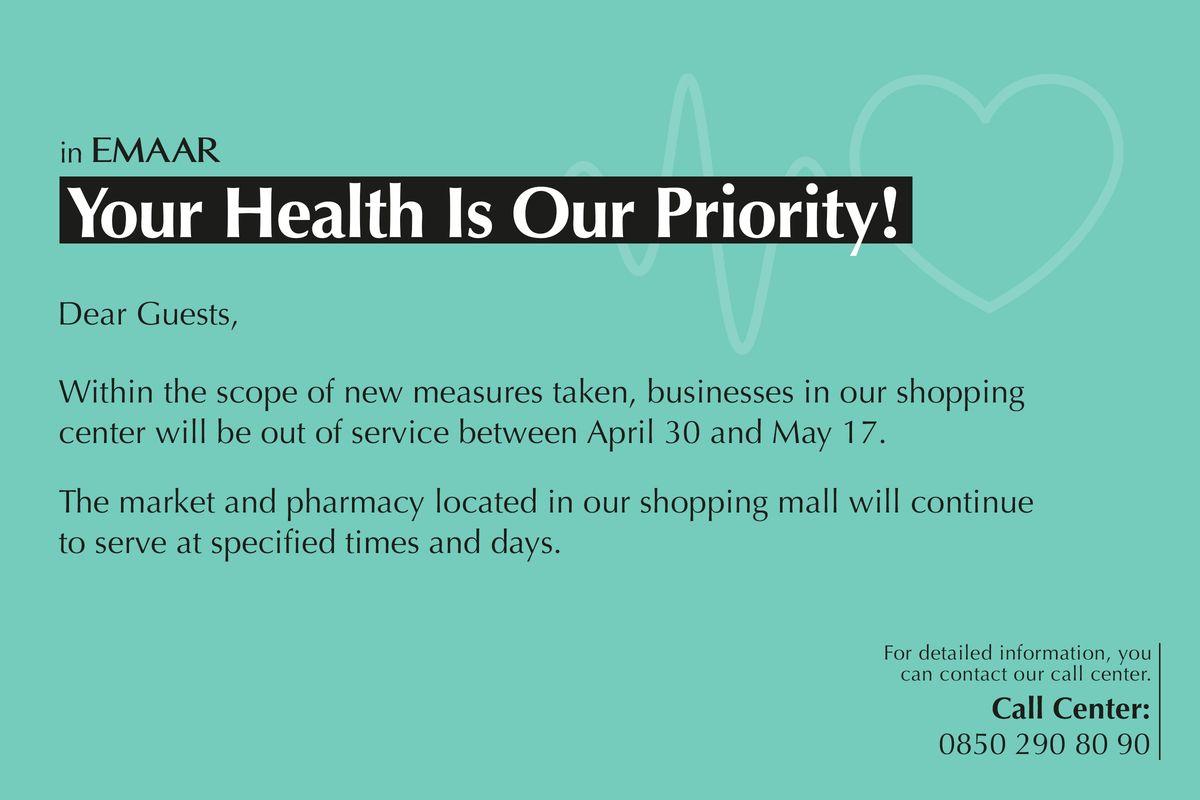 Sağlığınız Önceliğimiz!