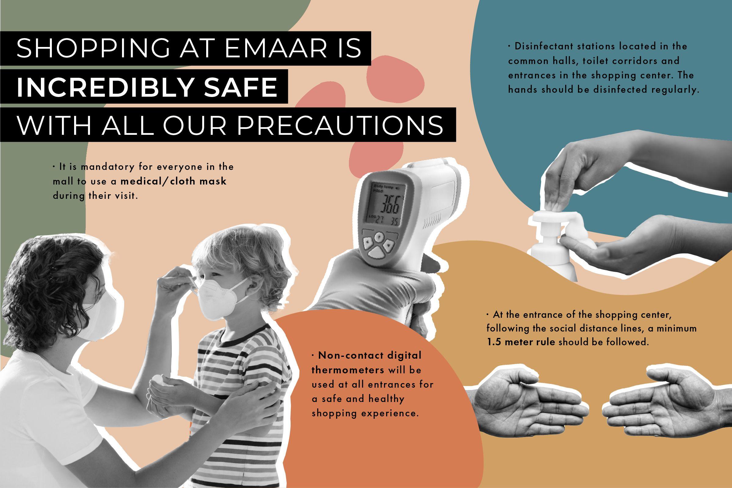 Tüm Önlemlerimizle Emaar'da Alışveriş Çok Güvenli!