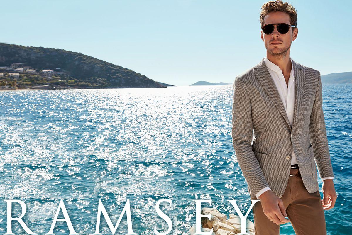 RAMSEY'in %50 daha hafif Zero Weight ceketleriyle erkekleri hem şık hem de rahat bir yaz bekliyor.