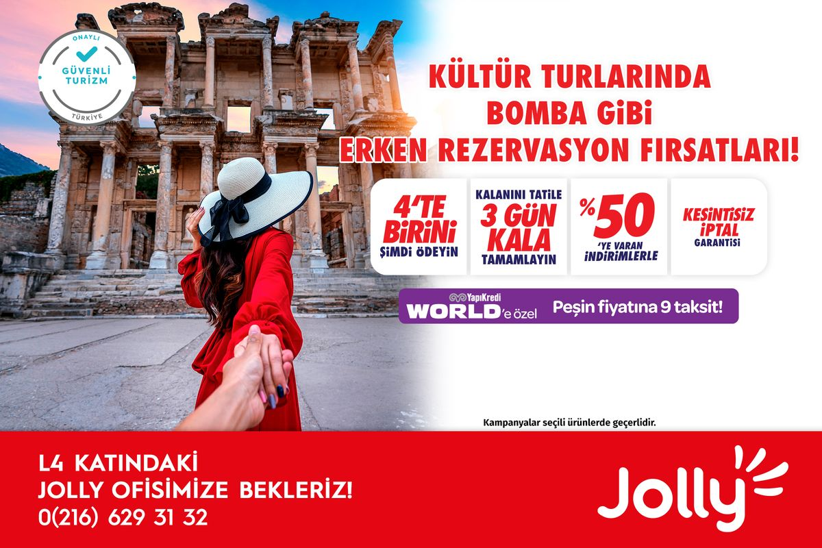 Kültür Turlarında Bomba Gibi Erken Rezervasyon Fırsatları!